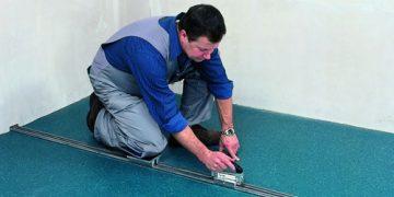 Pokládání podlahových krytin